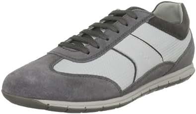 Geox  U Active A, Chaussures de Gymnastique homme - Gris - Grigio (Grey/White), 46 EU