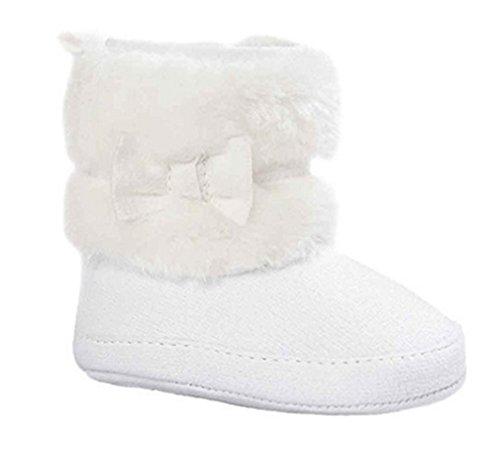 Clode® Kleinkind Baby Mädchen Warm Halten Schneestiefel Weiche Sohlen Krippe Schuhe Kleinkind-Stiefel Weiß