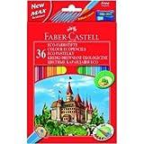Faber Castell Farbstifte Castle 36er Etui mit Spitzer farbig sortiert