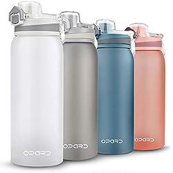 Opard Trinkflasche Sport 900ml-Wasserflasche aus Tritan, BPA-Frei, Auslaufsicher Sportflasche für Kinder, Sport, Fitness, Fahrrad, Fußball, Outdoor (Weiß)