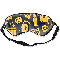 Schlafaugenmasken für Halloween, mit coolem Druck, Seide, verstellbarer Riemen preisvergleich bei billige-tabletten.eu