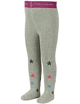 Sterntaler Strumpfhose mit Sternen für Mädchen, Alter: 3-4 Monate, Größe: 62, Grau (Silber Melange)