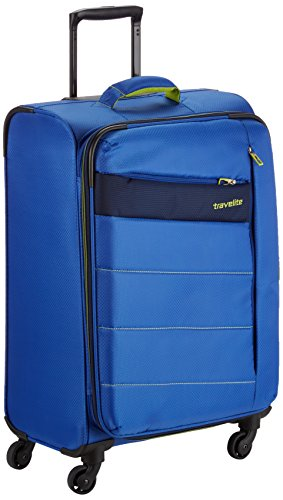 Travelite Kite 4w Trolley M, Erweiterbar, 87148-21, Koffer, 64 cm, 77 L, Royal Blau