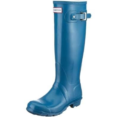 Hunter Unisex-Adult Hunter Original Gloss Teal Wellington Boot W23616 7 UK