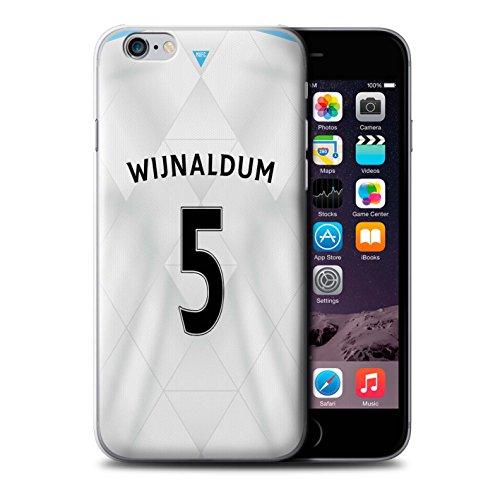 Offiziell Newcastle United FC Hülle / Case für Apple iPhone 6S / Lascelles Muster / NUFC Trikot Away 15/16 Kollektion Wijnaldum