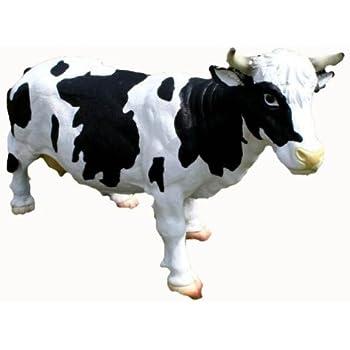 Dekofigur Kuh mit Kalb lebensechte Skulptur Kuhstall Bauernhof Garten Dekoration