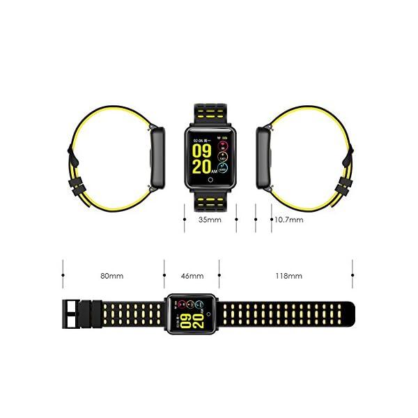 TagoBee TB06 IP68 a Prueba de Agua Smart Watch HD Touch Screen Fitness Tracker Soporte de presión Arterial frecuencia… 4