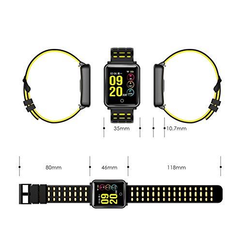 SmartWatch TagoBee TB06 IP68 Fitness Tracker für Schwimmen Bluetooth Wasserdicht Activity Tracker Pedometer Schrittzähler Hat Kompatibel mit Andriod und ios schwarz - 6