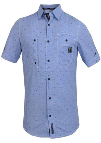Dissident Herren Freizeit-Hemd Blau blau Blau