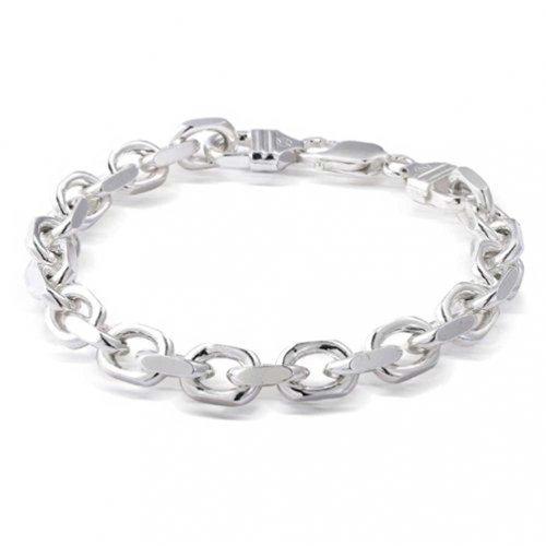 Herren Solid Heavy 925 Sterling Silber Forzata Anker Mariner Kette Armband Für Herren Für Damen 250 Gauge In Italien -