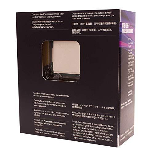 Intel Core i7-8700K Processor (6x 3.7 GHz Taktfrequenz, 12 MB L3-Cache, Boxed ohne Kühler)