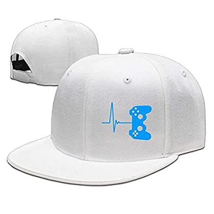 WCMBY Hat Heartbeat of A Gamer Cool Snapback Ca...
