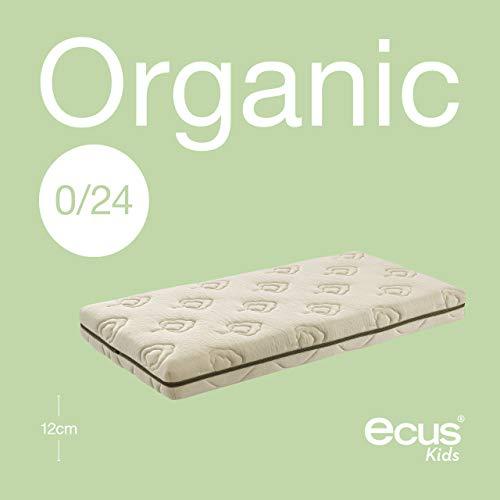 Ecus Kids Organic - Colchón de cuna, 120 x 60 cm
