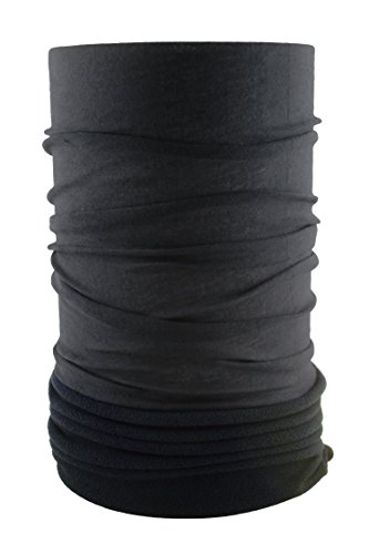 HeadLOOP POLAR EXTRA LANG Schwarz Fleece + Schlauchtuch Multifunktionstuch Schal Halstuch Kopftuch Microfaser