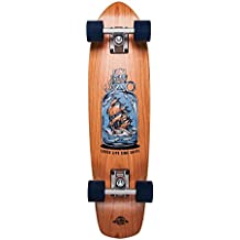 Dstreet Cherry Loose Lips Skateboard, Unisex Adulto, Marrón (Natural), 28