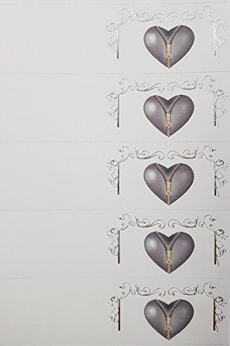 Rc2 corporation 20 bigliettini per matrimonio e anniversario, con cuore colore argento con lampo e cornice, bomboniera fai da te