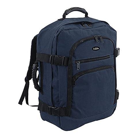 More4bagz - Sac à dos style fourre-tout très léger - dimensions bagage à main - capacité 44 L - 50 x 40 x 20 cm - Bleu
