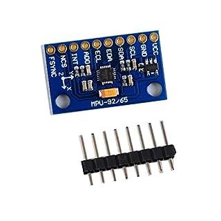 Yaoaoden MPU 9250 GY-9250 SPI/IIC Communications 9-Axis Attitude Module Accelerator Magnetometer Sensor Board Module