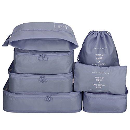 G4Free Kleidertaschen-Set Reisetasche in Koffer Wäschebeutel Schuhbeutel Kosmetik Aufbewahrungstasche -
