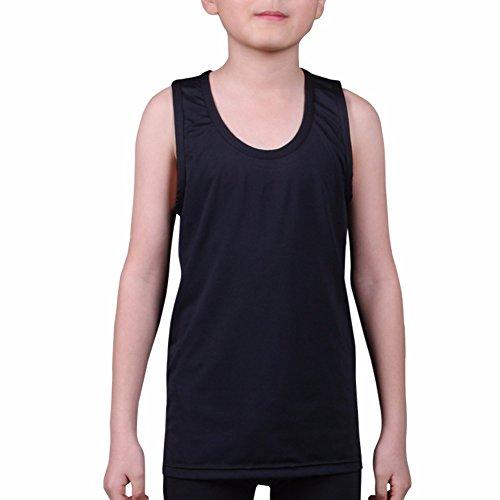 Kids Compression Tank Top Underwear Boys Youth Base Layer Sleeveless Shirt RK Test