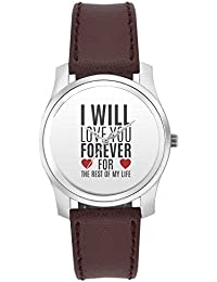 BigOwl I Will Love You Forever | For Lovers Him/Her Fashion Watches For Girls - Awesome Gift For Daughter/Sister...