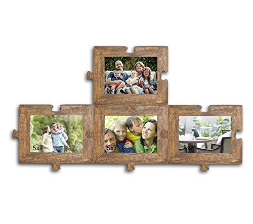 Puzzle Photo frame set of 4 wall Photo frame (Wooden Photo Frame)