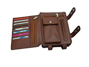 Essart PU Leather Travel Document Holder Brown (200267A.)