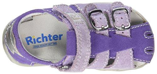 Richter Kinderschuhe Terrino, Chaussures Marche Bébé Fille Violett (lavend/thistle/silve)