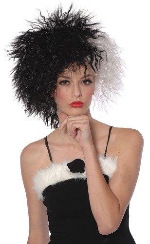 atiner-Kostüm Perücke, Deluxe (Cruella Deville Kostüme Erwachsene)