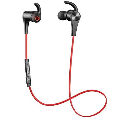 Foto de SoundPEATS - Auriculares magnéticos Bluetooth 4.1 Cascos inálambrico Deportivos, tecnología APTX y de Ruido de Cancelación CVC 6.0, Sonido Estéreo de calidad superior, Rojo