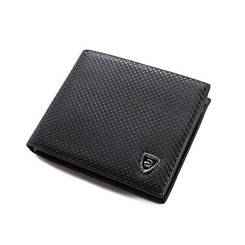 ChenBing-bg Herren Leder Geldbörse Trifold-Brieftaschen aus Leder in klassischer Qualität für 6 Kartenfächer, 2 Scheinfächer, 2 Foto-Bits und 2 SIM-Kartenfächer Kreditkarteninhaber Geldbörse -