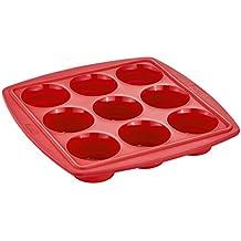 Tefal J4094715 Proflex Moule à 9 Muffins Rétractable Framboise