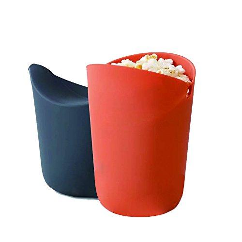 """53 Mikrowellen Popcorn Schüssel I Aus Robustem Silikon I Faltbare Schale I Hitzebeständig & Umweltfreundlich I 12""""x14"""" - Schüssel Popcorn,"""