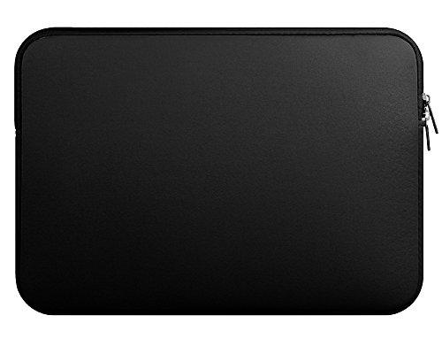 YipGrace Sleeve Case per Laptop/ Borsa per PC Portatili/ Ventiquattrore Cartella Involucro Tessuto Denim per Notebook/ MacBook Nero