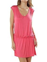 Samanthajane Bikini Cover Up cintura Tie verano playa vestido