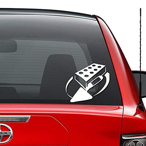 JIXIAN Ziegelstein Mason Tools Vinyl vorgestanzte Aufkleber für Windows Wanddekor Auto LKW Fahrzeug Motorrad Helm Laptop und mehr - (Größe 6 Zoll / 15 cm breit) / (Farbe Glanz Schwarz) (Mason Tools)