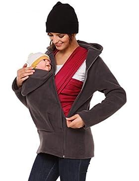 Happy Mama. Donna felpa del portare neonato bambino cappuccio pile tessuto. 031p