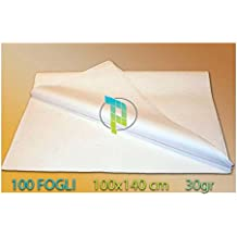 Palucart® 100 FOGLI DI CARTA VELINA BIANCA CARTA DA MODELLO PER SARTI GR. 30 CM. 100X140