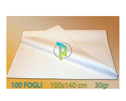 comprare on line Palucart® 100 FOGLI DI CARTA VELINA BIANCA CARTA DA MODELLO PER SARTI GR. 30 CM. 100X140 prezzo