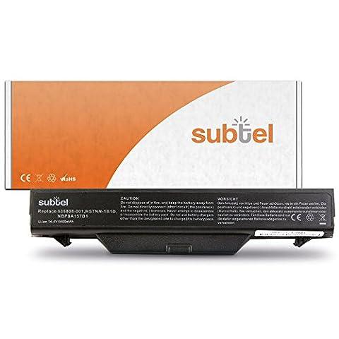 subtel® Batterie premium (6600mAh) pour HP ProBook 4510s 4515s 4710s 4720s HSTNN-IB88 (14.8V)* Batterie de recharge, ordinateur Accu remplacement