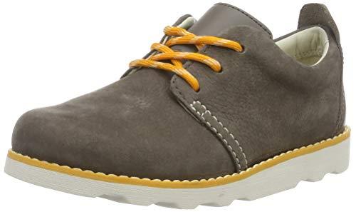 Clarks Crown Park K, Zapatillas para Niños, Marrón Brown Leather Brown Leather, 30 EU