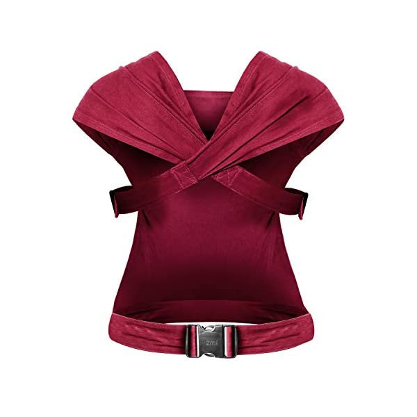 Izmi Essential, Newborn Baby Carrier | Fully Adjustable with 3 Carrying Positions | Use from Newborn to Toddler (3.2kg - 15kg), Red Izmi Multiple carry positions, front carry, outward facing carry and hip carry for ultimate flexibility Unique straps spread across your shoulders for better weight distribution Recognised by the International Hip Dysplasia Institute, holds your baby in a comfortable, hip healthy position 2