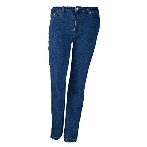 Trendige Damen Jeans in Übergröße mit Stretch Anteil, Größe:XL;Farbe:blau/grau