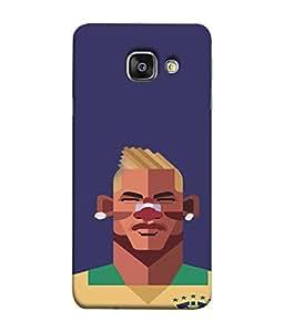 PrintVisa Cute Smily Man 3D Hard Polycarbonate Designer Back Case Cover for Samsung A9 Pro