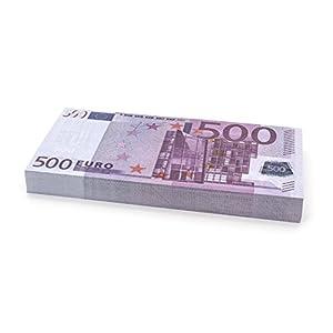Cashbricks 100 x €500 Euro Spielgeld Scheine – verkleinert – 75% Größe