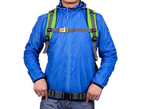 LQABW Uomini Spalla E Le Donne Viaggiano Anti-Pianificazione Impermeabile Zaino Borsa Sportiva Alpinismo 45L Pacchetto Esterno,Green Blue