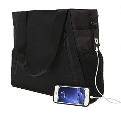 M-Edge Powered Yoga Tasche, Schwarz–tot-t6-n-b