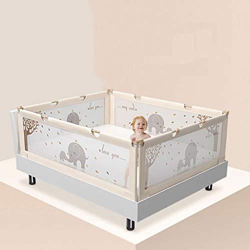 QLL Bettgitter Bettschutzgitter Extra-Hohe Bett-Schiene für Die Kleinkinder für Doppelbett Rausfallschutz (Size : 58inch) -