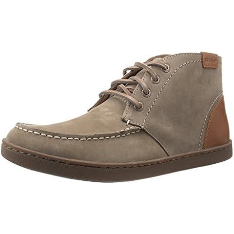 Sebago Men's Ryde Chukka Boot, Dark Taupe Nubuck/Tan Leather, 10 M US