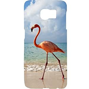 Casotec Egret Bird on Sea Design Hard Back Case Cover for Samsung Galaxy S6 Edge